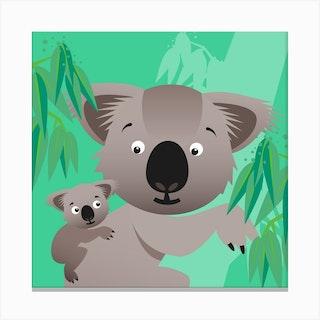 Kids Room Koalas Canvas Print