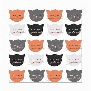 Cat Madness Canvas Print