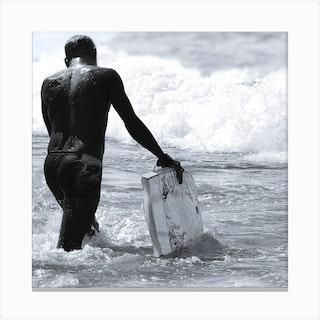 Surfs Up Square Canvas Print