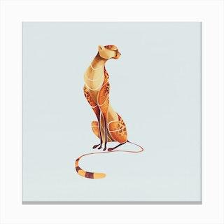 Elegant Cheetah Canvas Print