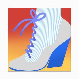 Boot Square Canvas Print