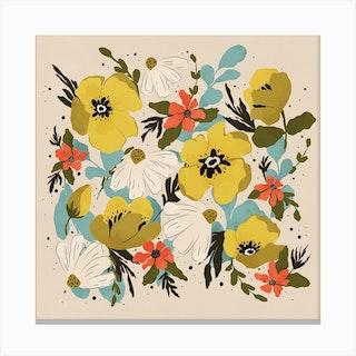 Bouquet Square Canvas Print