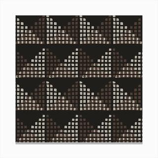 Edith Block Print In Chocolate Canvas Print