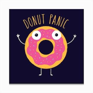 Donut Panic Canvas Print