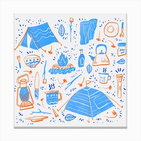 Camping Daylight Canvas Print