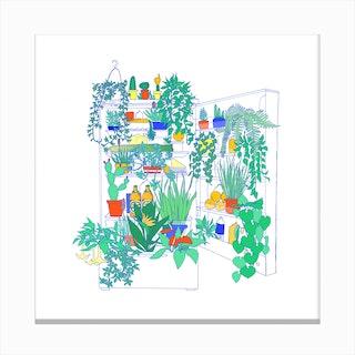 Plants In The Fridge Canvas Print