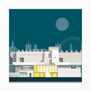 Hayward Gallery Blue Canvas Print