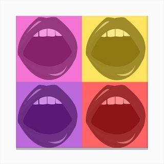 Lips Illustration Canvas Print