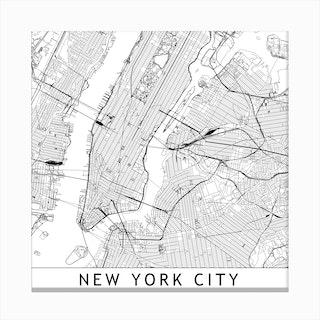 New York Map  I Canvas Print