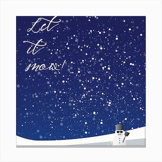 Let It Snow Square Canvas Print