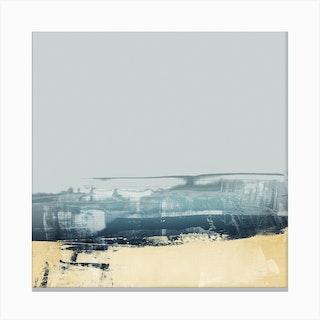 Horizontal Textures Blue Yellow 1 Canvas Print