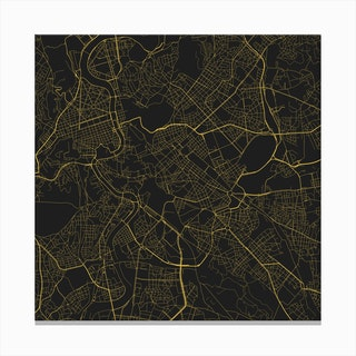 Rome in Yellow (Traffic) Canvas Print