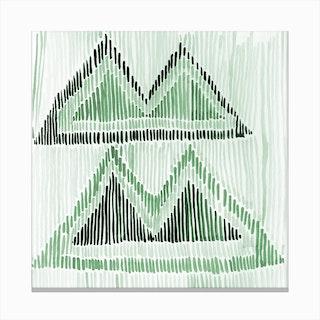Chilili Watercolor Print In Green Canvas Print
