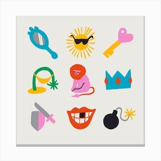 Leo Symbols Canvas Print
