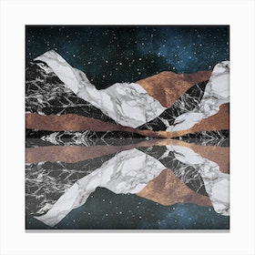 Landscape Mountains Square Canvas Print