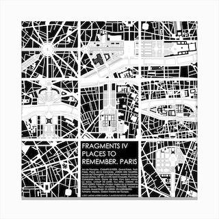 Paris Fragments Canvas Print