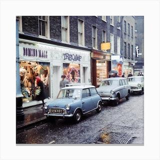 Carnaby Street, London. December 1965 Canvas Print