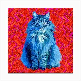 The Cat Square Canvas Print