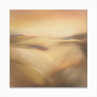 Ocean Of Sand Square Canvas Print