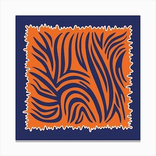 Tangerine Tiger Square Canvas Print