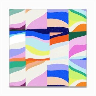 Groove Pattern 2 Canvas Print