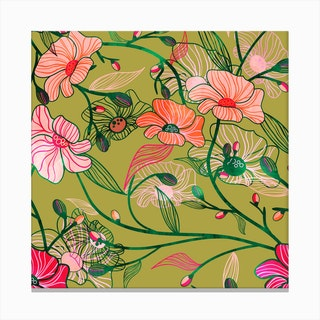 Two Floral Canvas Print