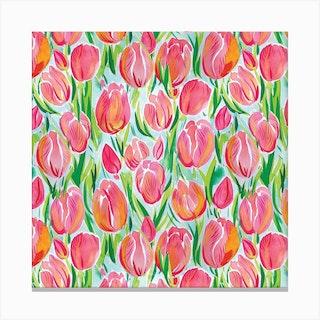 Watercolour Tulip Canvas Print