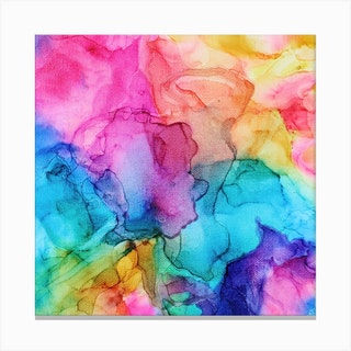 Colors At Play Square Canvas Print