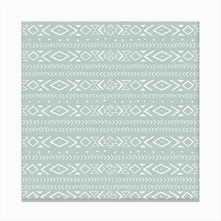 Boho Green Canvas Print