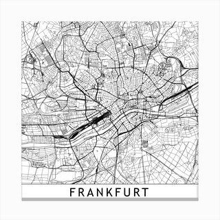 Frankfurt Map Canvas Print