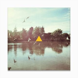 Yellow Triangle Canvas Print