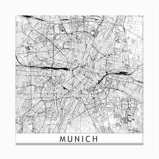 Munich Map  I Canvas Print