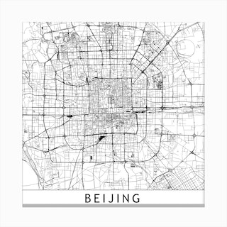 Beijing Map Canvas Print