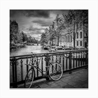 Amsterdam Emperor's Canal Square Canvas Print