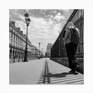 Paris Street Photography Canvas Print