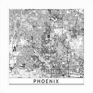 Phoenix Map Canvas Print