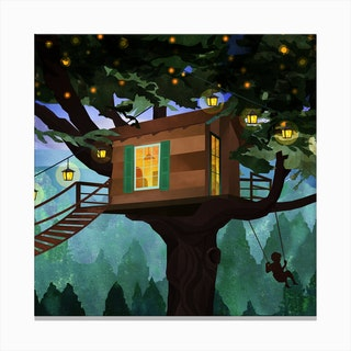 Treehouse Adventure Canvas Print