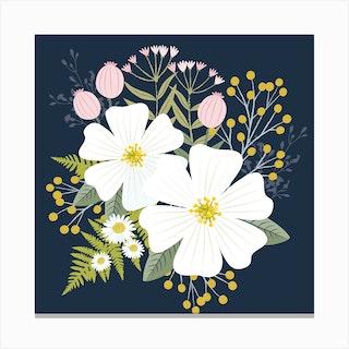 Pretty Floral Canvas Print