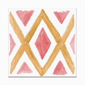 Del Rio Watercolor Print In Yellow And Pink Canvas Print