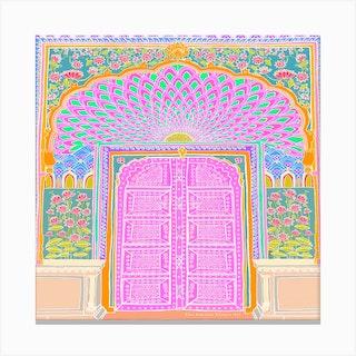 Jaipur Patterns Square Canvas Print