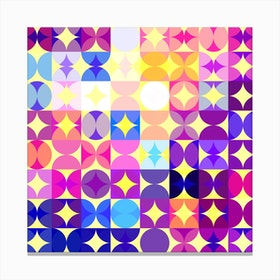 Colorful Modern Geometric Pattern I Canvas Print