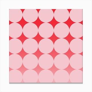 Circling Pink Square Canvas Print