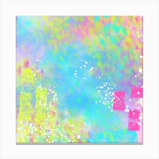 Abstract Explosion 5 Square Canvas Print