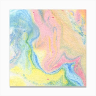 Cotton Candy Print Canvas Print