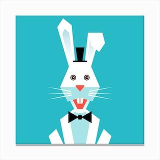 Kids Room Rabbit Canvas Print