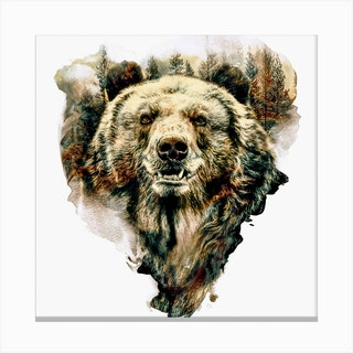 Bear Square Canvas Print