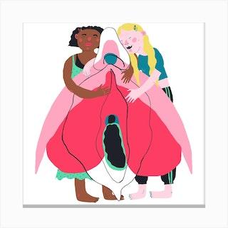 Clitoris Hug Canvas Print