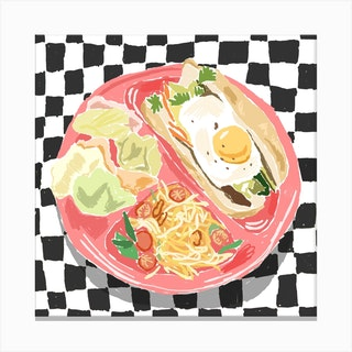 Egg Still Life Square Canvas Print