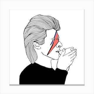 David Bowie Drinking Tea2 Canvas Print