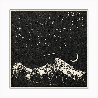 A Night In The Mountains Canvas Print